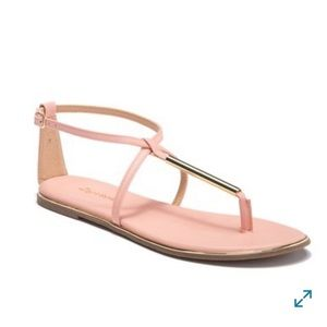 Zigi Soho pink and gold sandals